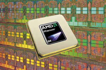 Phenom chip Wafer - AMD presenta la sua prima piattaforma pc completa: Spider