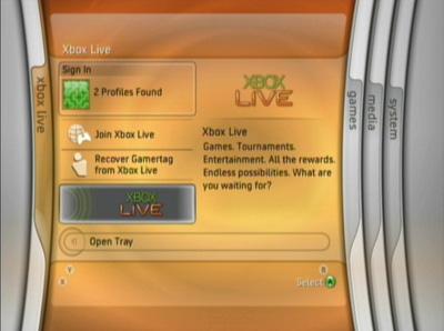 8 xbox live menu - Update della dashboard per Xbox 360: tutte le novità