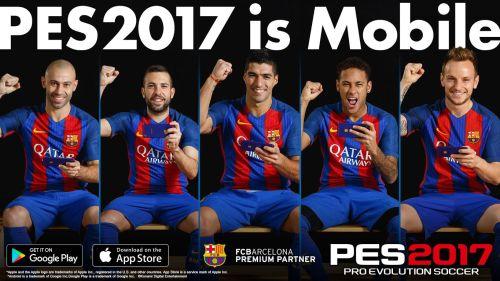 PESmobile2 - PES 2017 arriva oggi sui dispositivi iOS e Android