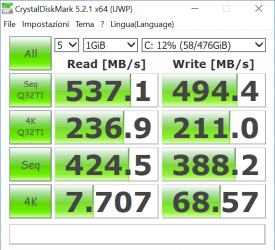 Crystaldisk - Recensione Asus Zenbook Flip UX360UA