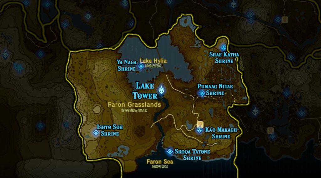 Lake Region 1024x568 - The Legend Of Zelda Breath of The Wild, guida alla posizione di tutti i Santuari