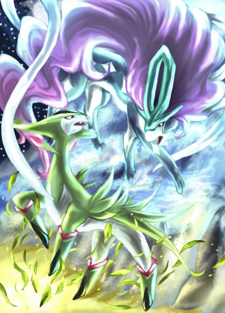 virizion and suicune by aoi 1 d4soh69 736x1024 - Guida Pokémon Ultrasole e Ultraluna, uso degli Ultravarchi e cattura di tutti i Pokémon Leggendari