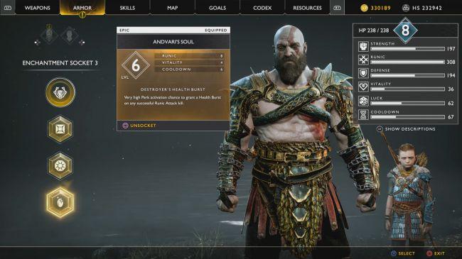 Anima Andvari Kratos - Come ottenere il Guanto dell'Infinito su God Of War