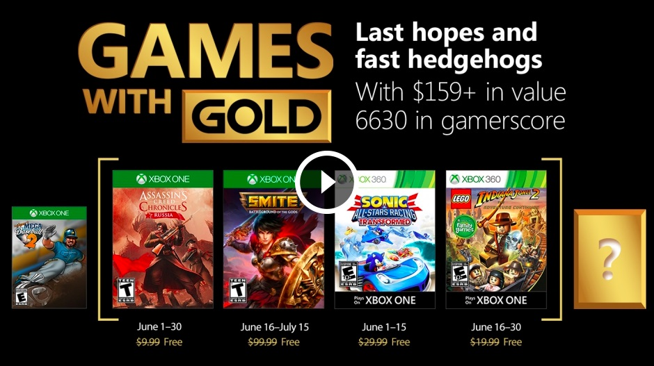 Games With Gold June - Xbox One, un leak avrebbe rivelato i Games With Gold di giugno