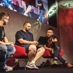 Gaming influencer P4wnyhof center shares thoughts on Zephyrus with ASUS Bob Chen right at Gamescom 2018 - Gamescom 2018, Asus presenta le nuove schede grafiche NVIDIA RTX e tanti nuovi prodotti dedicati al gaming