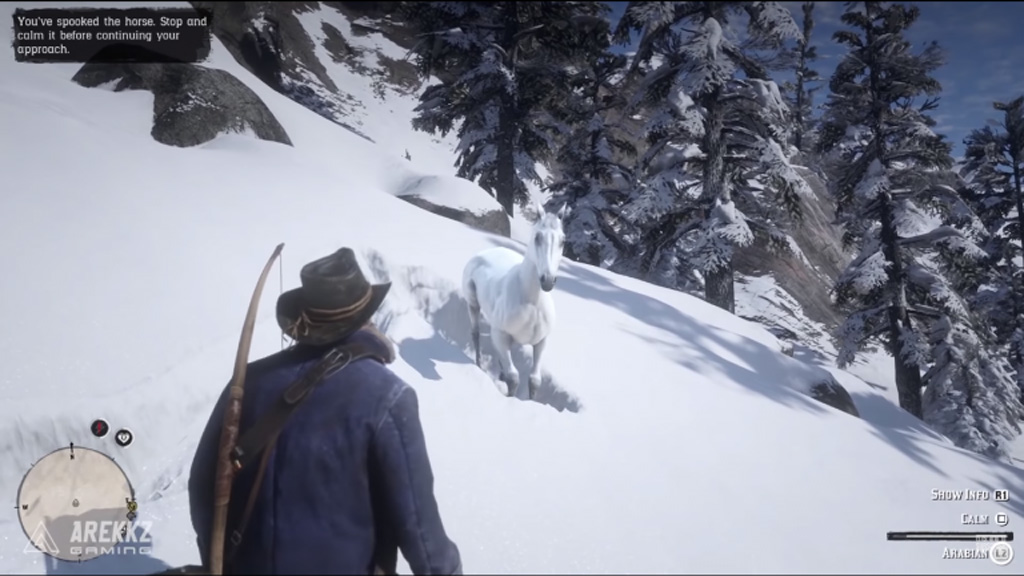 cavallo bianco red dead redemption 2 neve 1024x576 - Red Dead Redemption 2: come ottenere il miglior cavallo selvaggio