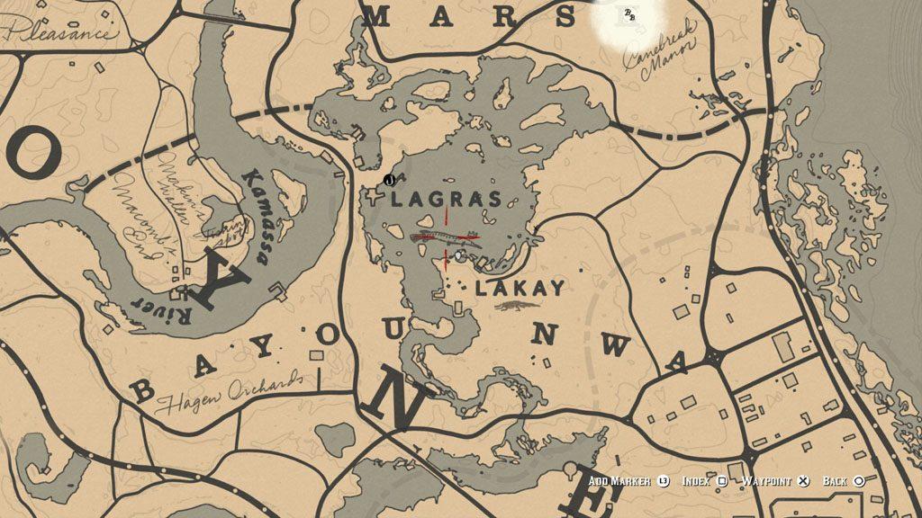 red dead 2 fish longnose gar location 1024x576 - Red Dead Redemption 2 - Guida ai pesci leggendari