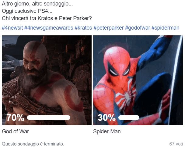 gow vs sm 4news game awards - 4News Game Awards - God of War si guadagna il titolo di Game of the Year