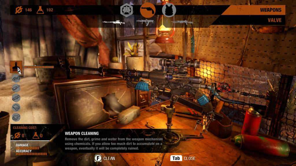 Weapong Cleaning 1024x576 - Metro Exodus - Guida alle armi