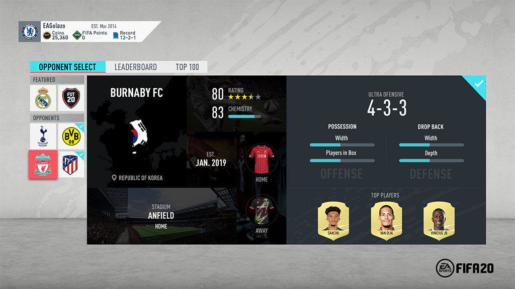 Fifa 20 Ultimate Team Squad Battles