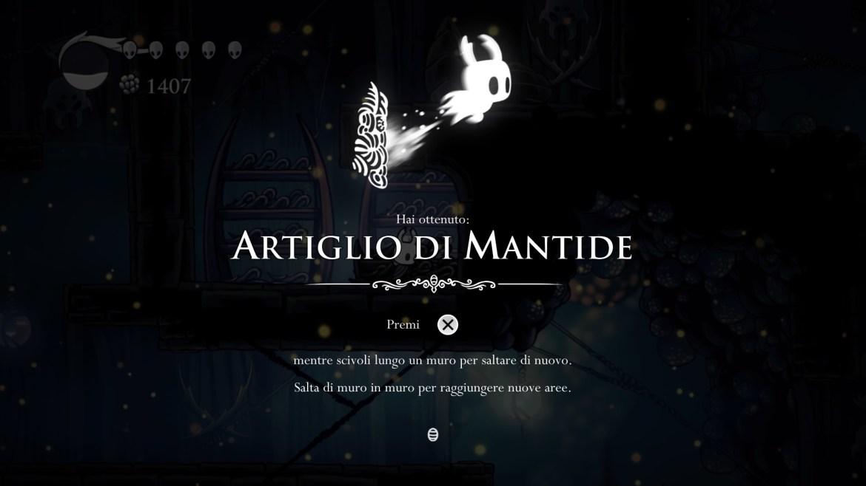 Hollow Knight Artiglio di Mantide