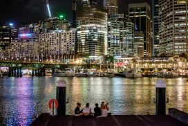 Night out at Darling Harbour