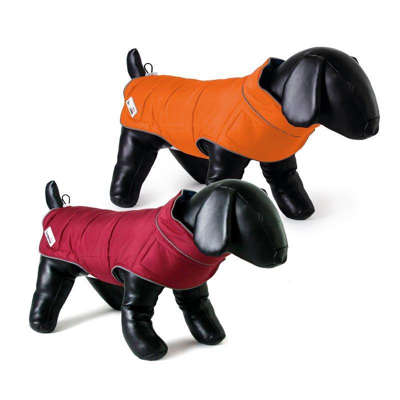 Beide Farben der Combi-Puffer-Hundejacke von Doodlebone®