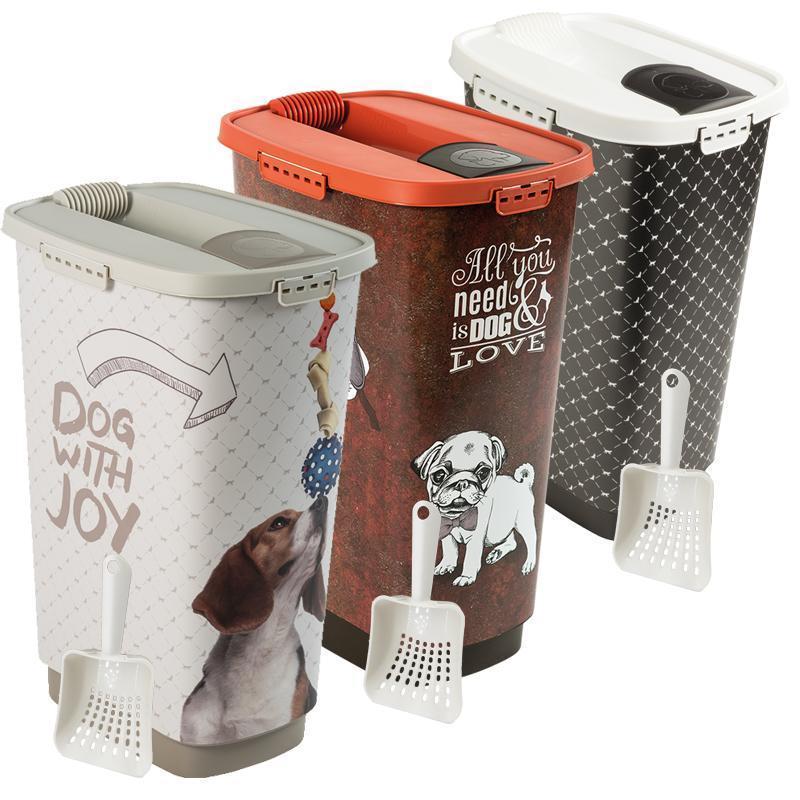 50 l Set Futterbehälter + Schaufel in verschiedenen Varianten von Rotho MyPet