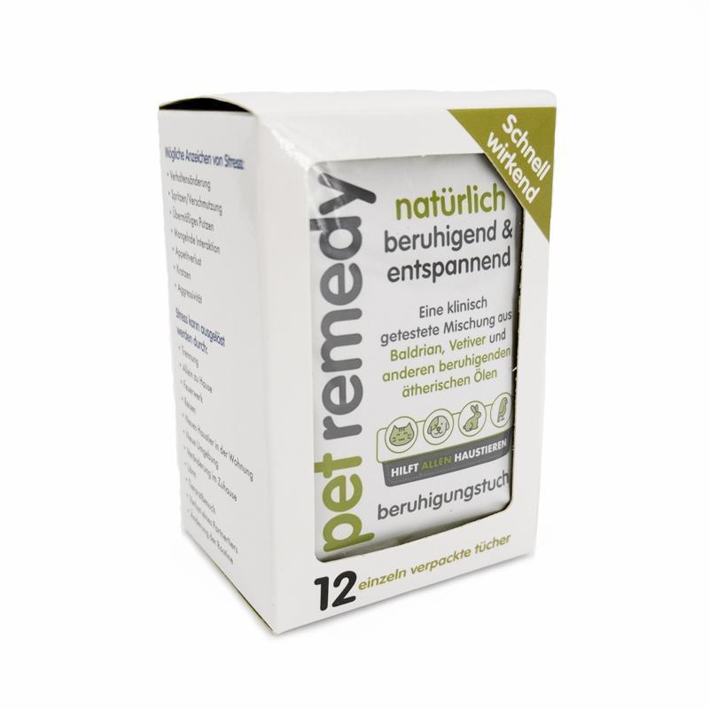 Pet Remedy Feuchttücher 12 Stück in einer Verpackung