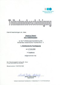 Fortbildungsveranstaltung 1. Süddeutsche Fachtagung