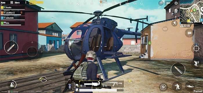место появление вертолёта в pubg mobile
