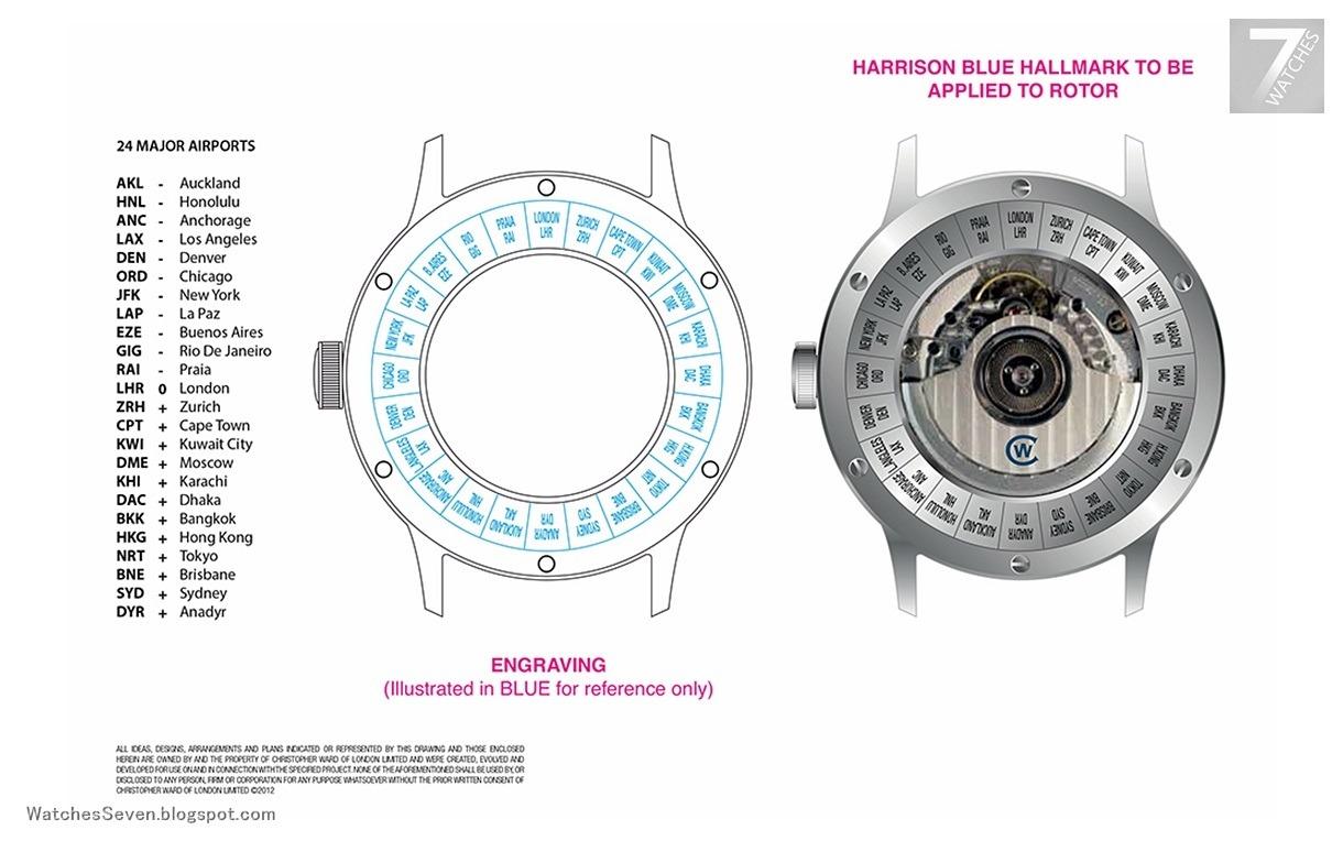Watches 7 Christopher Ward C900 WorldTimer NEW