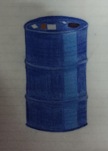 Blaue Tonne