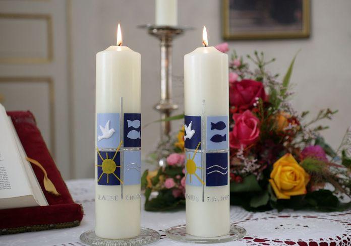 Kerze für die Taufe
