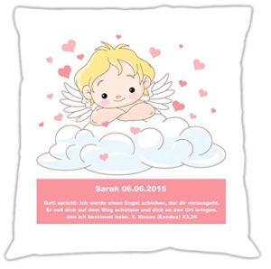 TTS Taufkissen Engel rosa mitWunschbeschriftung