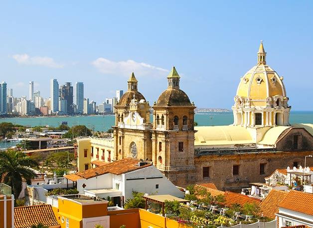 Cartagena bei Tag in der Vogelperspektive