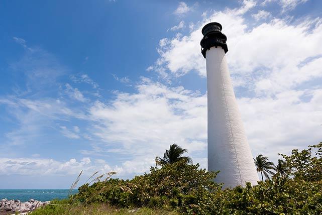 Leuchtturm von Key Biscaine in Miami