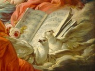 "François Boucher (French, 1703-70), ""Allegory of Music"" (detail, 1764)"
