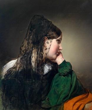 """Friedrich von Amerling (Austrian, 1803–87), """"Mädchen im Profil"""""""