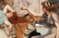 "John William Godward (English, 1861-1922), ""Mischief and Repose"" (1895)"