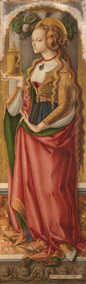 "Carlo Crivelli (Italian, ca. 1435-95), ""Santa Maria Maddalena"" (1474)"