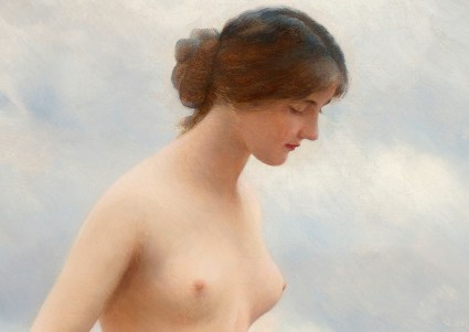 """Eugene de Blaas (Italian, 1843-1932), """"In the Water"""" (detail)"""