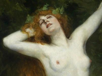 "Ferdinand Leeke (German, 1859-1923), ""Bacchante"" (detail)"