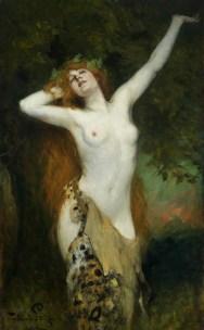 "Ferdinand Leeke (German, 1859-1923), ""Bacchante"""