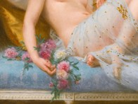 """Guillaume Seignac (French, 1870-1924), """"Reclining Odalisque"""" (detail)"""