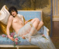 """Guillaume Seignac (French, 1870-1924), """"Reclining Odalisque"""""""