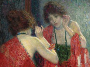 "Hovsep Pushman (American, 1877-1966), ""Narcissa"" (detail)"