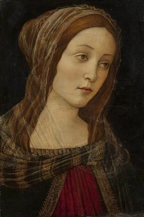 "Imitator of Sandro Botticelli, ""Head of a Saint"""