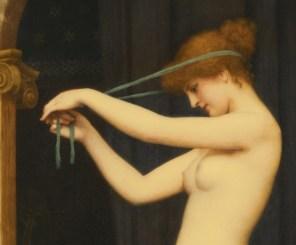 "John William Godward, ""Venus Binding Her Hair"" (detail)"