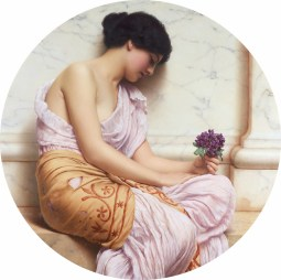 "John William Godward (English, 1861-1922), ""Violets, Sweet Violets"""