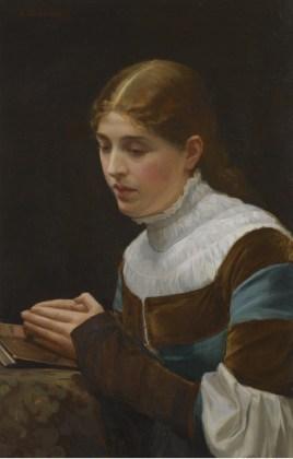 "Sir John Lavery (Scottish, 1856-1941), ""Marguerite's Prayer, Faust Act III, Scene I"""