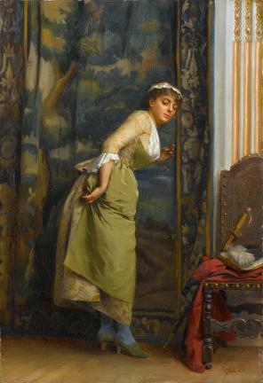 """Theodoros Ralli (Greek, 1852-1909), """"Eavesdropping"""" (1880)"""