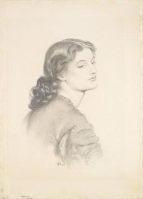 """Dante Gabriel Rossetti, """"Portrait of Ada Vernon""""."""