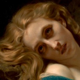 """Hugues Merle, """"Mary Magdalene in the Cave"""" (detail)."""