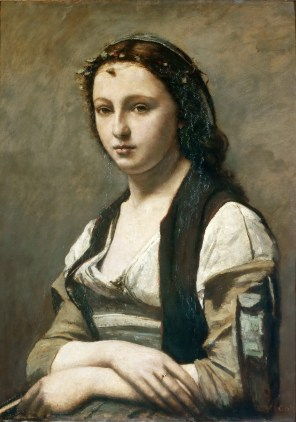 "Jean-Baptiste-Camille Corot, ""Woman with a Pearl"" (ca. 1858-68)"
