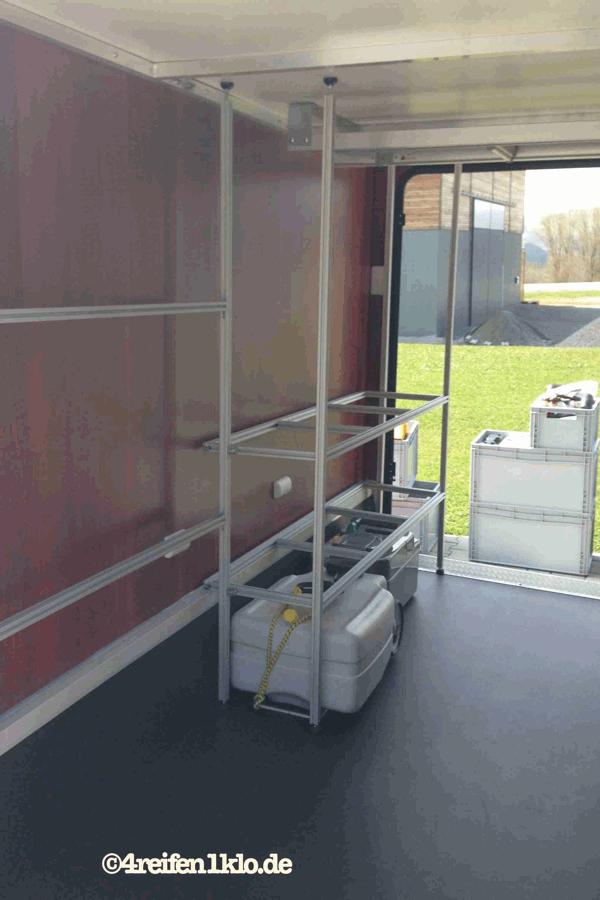 Regalsystem Heckgarage Wohnmobil