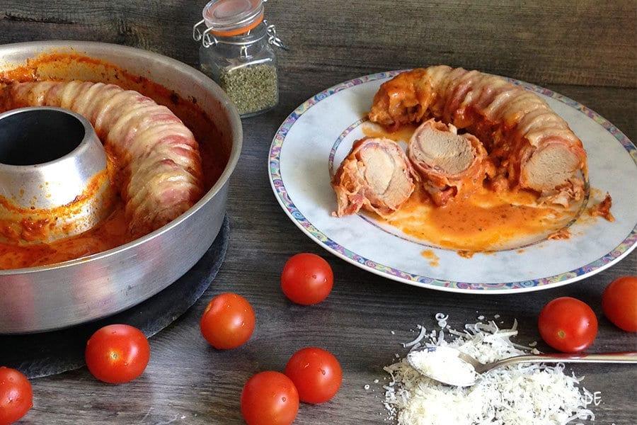 Ofenfilet mit Bacon und Parmesan