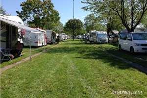 Auf dem Caravan Salon campen