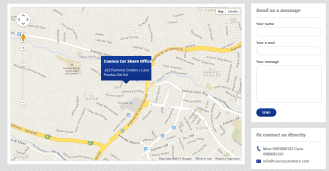Google Map + Contact information and contact form