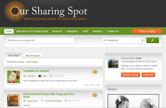 Members can browse all available listings, post their own listing and manage their profiles.